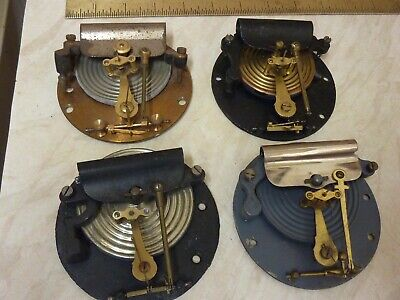 "4 Old 4"" Type Aneroid Barometer Movements (F) Spares Or Repair"