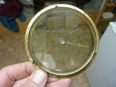 Good Aneroid Barometer Bezel-Bevelled Glass & Set Knob & Hand-Free Post (F1)