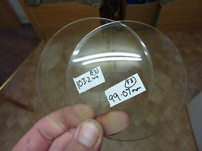 2 Useful Old Bevelled Edge Convex Clock Glasses (F2)  Free Post