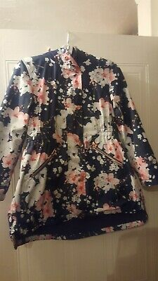 Girls Ted Baker Floral Waterproof/ showerproof Coat Jacket age 9 vgc