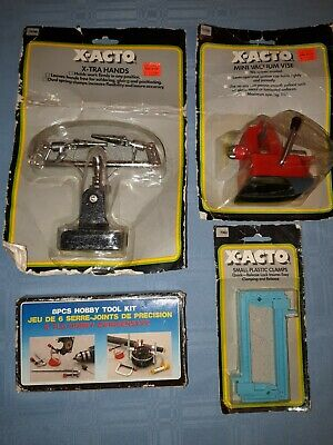 X-Acto hobby Clamps, Vice, X-Tra Hands Holding work Assistant. '80's Vintage.