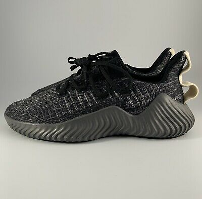 Adidas Alphabounce Trainer Black Grey Raw White Men Shoes Size 9 (BB9250)
