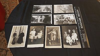 Lot of 8 Vintage Black & White POSTCARDS Great Scrapbooking Postcards eb