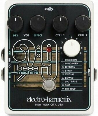 NEW ELECTRO-HARMONIX BASS 9 Bass Machine Effects Pedal Synthesis from JAPAN