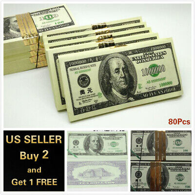 80pcs USD Chinese Heaven Hell Money Joss Paper Traditional Bank Note Ghost Ances