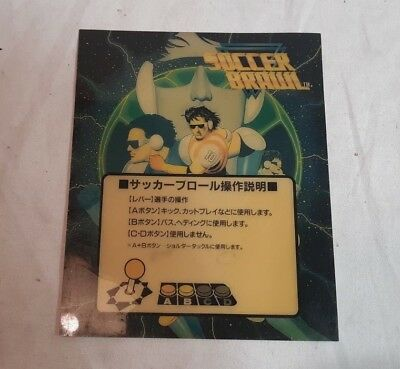 "4.5"" x 5.5"" SOCCER BRAWL Translite SNK NEOGEO Mini Marquee Game Card in Chinese"