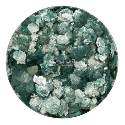 Forest Green (Silver dark green colour) 100% natural glitters - LARGE SIZE