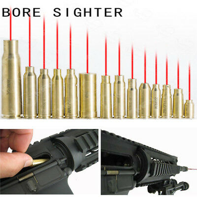 CAL Cartridge Red Dot Laser Bore Sighter Brass Boresight For Rifle Gun Scope CA