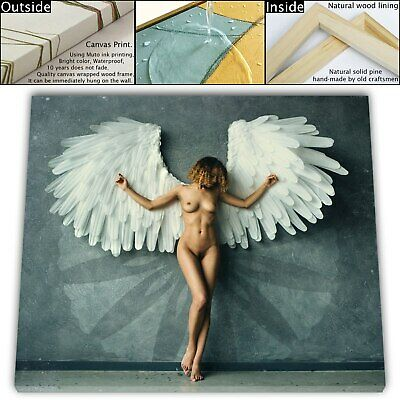 """16""""x18""""Naked Girls with Wings HD Canvas print Painting Home Decor Room Wall art"""