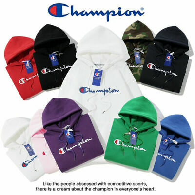 2019 Women's Men's Classic Champion Hoodies Embroidered Hooded Sweatshirts HOT