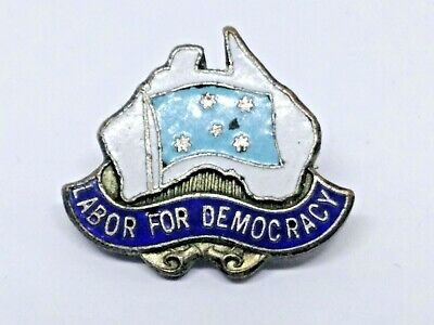 Rare Labor Party For Democracy  Political Campaign  Badge / Pin Amor Sydney