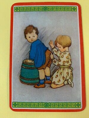 Swap Playing Cards = 1 Blank Back Woolworths Little Boy And Girl Cute