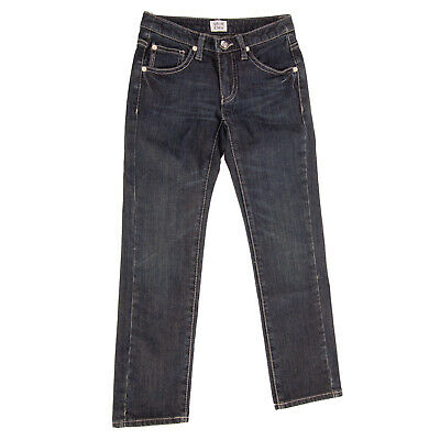 ARMANI JUNIOR Jeans Size 8Y / 130CM Stretch Faded Effect Zip Fly Skinny Fit
