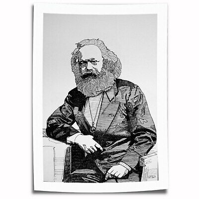 "16""x24""Karl Marx Figures Paintings HD Print on Canvas Home Decor Room Wall Art"