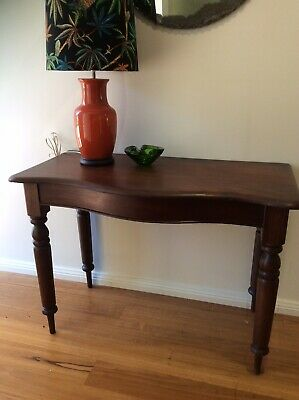 Antique Australian Cedar Bowfronted Hall Table