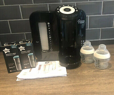 Tommee Tippee Perfect Prep Machine Black With 2 New Boxed Filters And 2 Bottles