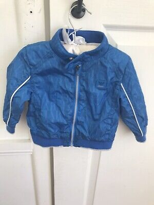 Boys Armani Baby Blue Bomber Jacket