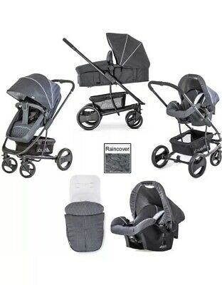 Hauck Pacific 4 Shop n Drive 2 Way Facing Pushchair Car Seat Melange Charcoal 21