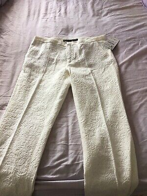 Zara Ladies Cream New With Tags Trousers Size Small