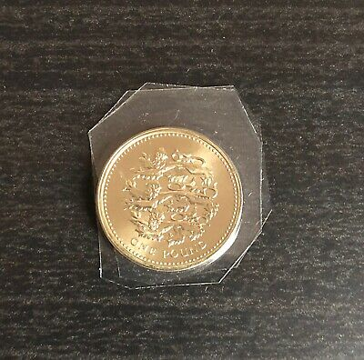 1997 Three Lions BU £1 Royal Mint One Pound Brilliant Uncirculated Coin