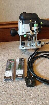 Festool OF1010 EBQ Router Good Condition + New Trend router bits