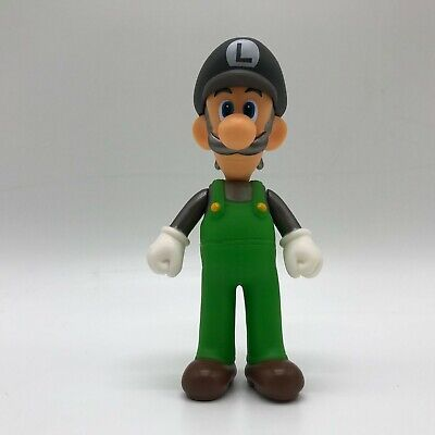 Super Mario Odyssey Black Cap Luigi Action Figure Vinyl Toy Doll 5.5""