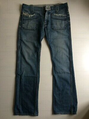 DIESEL pantaloni jeans trousers W33 vintage casual tasche quadrate Made in Italy