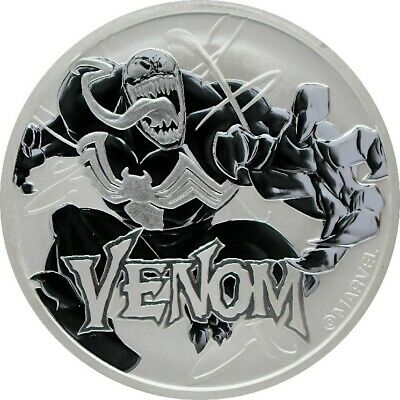 2020 Tuvalu Marvel Series Venom 1 oz .9999 Silver Capsuled BU Coin