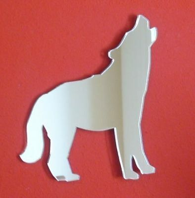 Alsatian Dog Howling Shaped Mirrors (Shatterproof Acrylic Mirrors Several Sizes)