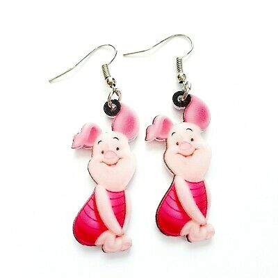 FREE  GIFT BAG /& FREE SAME DAY POSTAGE VERY CUTE 4½ x 2cm PIGLET EARRINGS