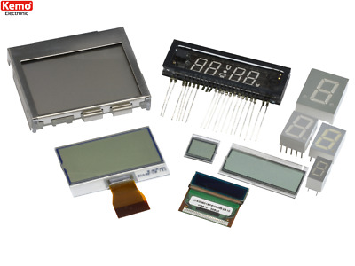 LED & LCD Display Selection Kemo S043 Random Assortment of Displays 10 Pieces
