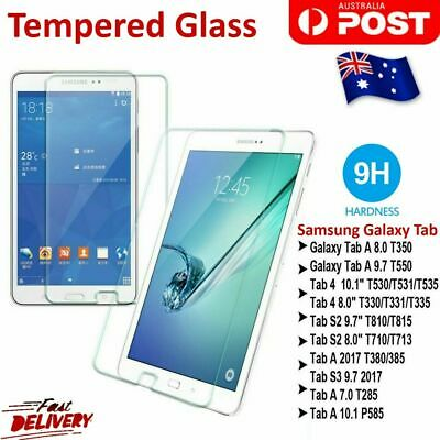 "9H Tempered Glass Screen Protector For Samsung Galaxy Tab A10.5"" 9.7""10.1"" S2 S4"
