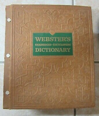 Rare Vintage 1957 Websters Unabridged Encyclopedia Dictionary Illustrated Deluxe