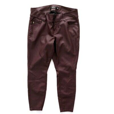 Torrid Women's Size 14 Jeans Pants Skinny Faux Leather Deep Maroon Wine Color