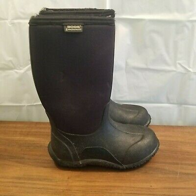 BOGS boys / girls 2 black insulated winter snow rain boots youth