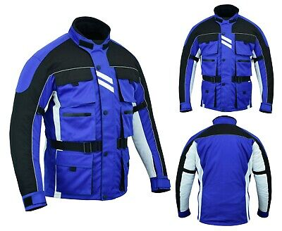 Yamaha Blue Color Motorcycle Waterproof Textile Bikers Ce Armours Summer Jacket