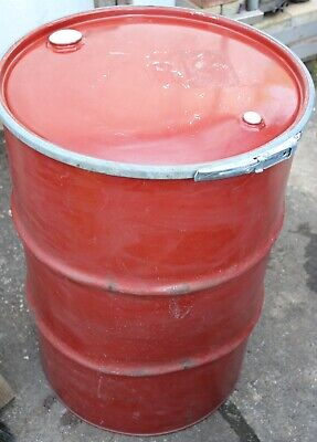 45 Gallon steel drum with lid & clamp[open top dry feed storage metal barrel]