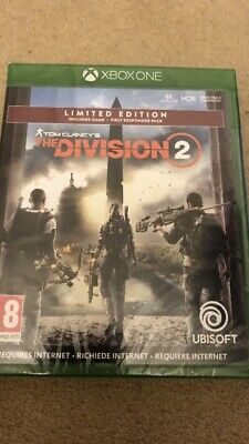 Xbox One Tom  Clancy's The Division 2 Limited Edition Pack New Sent Recorded