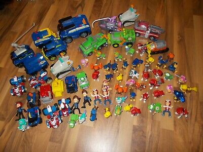 Paw Patrol CHASE TRANSFORMING  ON THE ROLL CAR W/SOUND Figures Marshall LOT