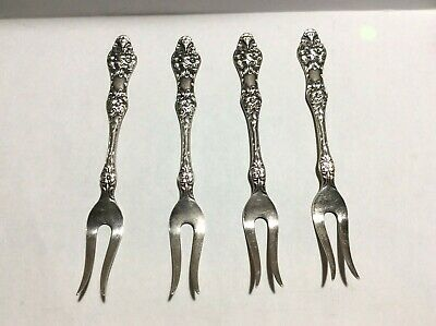 4 Vintage TH Marthinsen Wild Rose EPNS Lemon Forks Norway