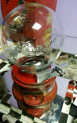 1920's ford gumball machine very nice rareCoin  rejector embossed globe #50 wow