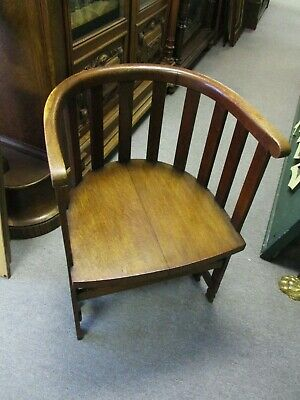 Charles Rennie Mackintosh Arts & Crafts Mission Oak Barrel Chair