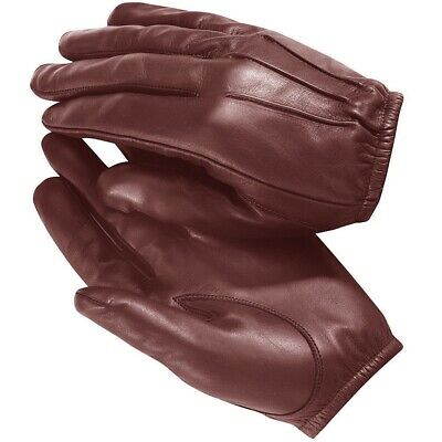 made with Kevlar Police Anti Slash Fire Resistant Leather Gloves Security SIA