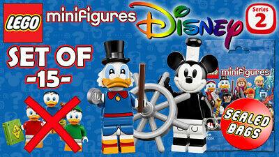 LEGO Minifigures: Disney Series 2 [71024] SEALED SET OF 15 (EXCLUDING DUCK KIDS)