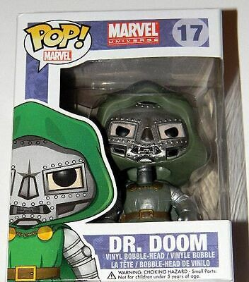 New ~ Funko Pop Marvel ~ DR DOOM ~ Fantastic Four ~ VAULTED Rare HTF