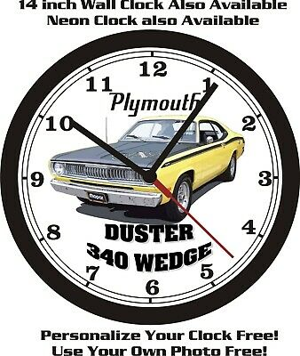 Chevrolet Dodge 1971-1972 PLYMOUTH 340 DUSTER WALL CLOCK-FREE USA SHIP! Ford