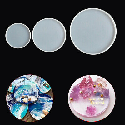Arts Silicone Round Coaster Mold Jewelry Making Mould Epoxy Resin Casting Molds