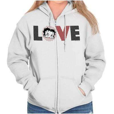 Vintage Betty Boop The Riveter Retro Sassy Womens Zipper Hoodies Sweat Shirts