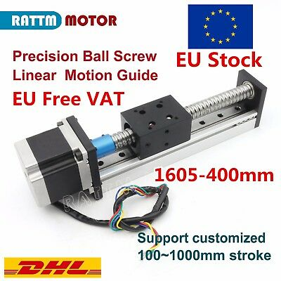 DE➝ CNC Ball Screw Linear Slide Stroke 1605 L-400mm Z Axis& Nema23 Stepper Motor