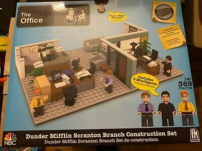 THE OFFICE Dunder Mifflin Branch Construction Set Playset NEW - In Hand to Ship!